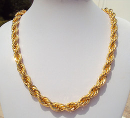$enCountryForm.capitalKeyWord NZ - x2 Gold GF Thick Rope Cuban Twist Chain 60cm*10mm Iced Out Necklace Hip Hop Bling Franco Miami FREE SHIPPING box packing