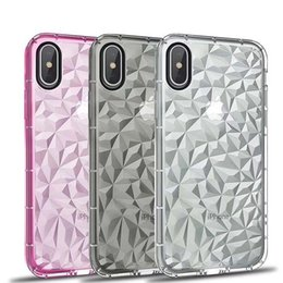 blackberry soft shell case Canada - Diamond Pattern Falling Soft TPU Mobile Phone Cases Coque Fundas Shells Cover case For iPhone 6 6S 7 8 X DHL Free Shipping