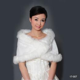 White Short Sleeve Faux Fur Australia - 2018 Cheap Winter Faux Fur Bridal Wedding Wrap Cape Shawl Jackets Coat Bolero Tippet Stole for Wedding Party In Stock