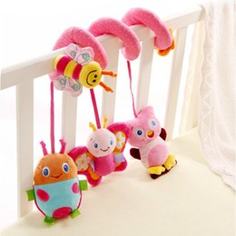 Wholesale Multifunctional crib around animal with bell mirror baby toy lathe pendant baby toys car baby gift new hot sale