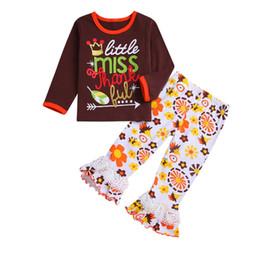Best Gift For Xmas Australia - Girls Christmas Santa Pajamas Clothing Sets Full Sleeve O-neck T-shirts for 2-6T Girls Xmas suits Best gifts for Christmas