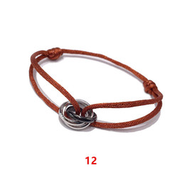 China 2018 Gold Color Heart Bracelet Silver Handmade Jewelry Multicolor Rope Adjustable String Lucky Bracelet For Women Children cheap gold bangle bracelet for child suppliers