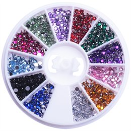 Wholesale Nail Rhinestones For Nails Colorful Crystal D Nail Art Decoration Gems Accessories Decoration Art Manicure Salon Tools DIY