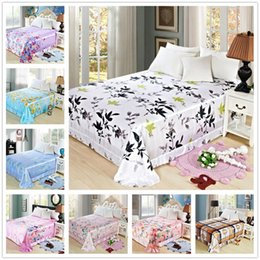 Wholesale Pastoral Floral Silky Bright Smooth Bedding Sheet Earthing Bedsheet Shams Bed Covers Double Satin Bed Flat Sheet Set King Size