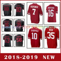 San Francisco 49ers jersey 10 Jimmy Garoppolo 7 Colin Kaepernick 16 Joe  Montana 25 Richard Sherman Men s football jerseys f959b55c0