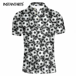 Men S Clothes Canada - INSTANTARTS Men Clothing 3D Ball Pattern Summer  Shirt Homme Casual Jersey Tops s Breathable Short Sleeve Camisas Shirts