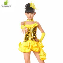 11fd67152213 Children Professional Latin Dance Dress for Girls Ballroom Dance Sequined  Dresses kids Modern Waltz tango Cha Cha Costumes 5Pc