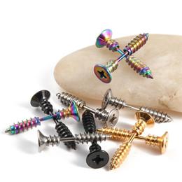 Titanium Lip Piercing NZ - 10 color Body Jewelry Piercings titanium steel Screw bolt Belly Rings Tongue Lip Piercing Stud earrings 300pcs T1C140