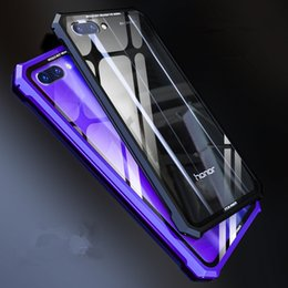 $enCountryForm.capitalKeyWord NZ - wholesale Luxury Clear Case for Huawei honor 10 case metal frame Tempered glass Combo cover For Huawei Honor 10 honor10 Fundas