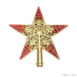 wholesale 1pcs lovely shiny xmas decorative christmas star tree topper decor table top ornament home decoration