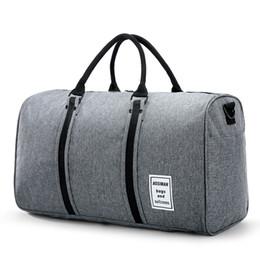 $enCountryForm.capitalKeyWord Australia - Large Capacity Men Canvas Travel Bag Portable Luggage Bag Independent Shoe Weekend Handbags Black 30%OFF T439