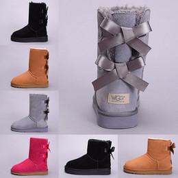 ab91fec56 Diseñador Mujer Invierno Botas de nieve Australia WGG Boot Lady Girl Tall  Arrodillarse corto Tobillo Negro Gris Azul marino Rojo Rojo Zapatos al aire  libre ...