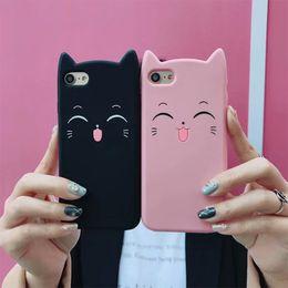 One Piece 3D Силиконовый чехол Cute Cat для телефона для iPhone 8 7 6 6S Plus X Coque Fundas Smile Лицевая крышка