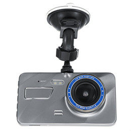 "dual car dvr rear front UK - Best car DVR 2Ch vehicle black box 1080P car video dashcam full HD 4"" front 170° rear 120° angle starlight G-sensor motion detection"