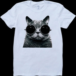 $enCountryForm.capitalKeyWord UK - Cat With Sunglasses White, Custom Made T-ShirtMens 2018 fashion Brand T Shirt O-Neck 100%cotton T-Shirt Tops Tee