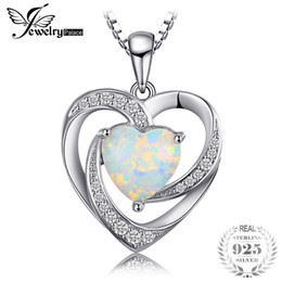 $enCountryForm.capitalKeyWord NZ - JewelryPalace Fashion 2.54ct Created Opal Heart Necklaces Pendants 925 Sterling Silver 45cm Box Chain Women Wedding Fine Jewelry Y1892806
