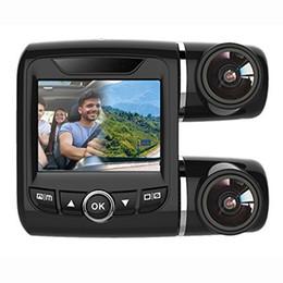 Cámara de coche PTZ dual HD de 1080P Full HD con pantalla TFT LCD de 2 pulgadas con soporte de grabación de doble cámara G-Sensor / Detección de accidentes en venta