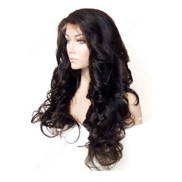 Discount dark blonde virgin brazilian hair - Brazilian Hair Wigs Virgin Human Hair Front Lace Wig with Baby Hair Natural Wavy Body Wave Full Lace Wigs For Black Wome