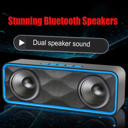$enCountryForm.capitalKeyWord NZ - Bluetooth Speaker Outdoor Portable Subwoofers Stereo Music Support TF Card USB Calls Function For Smart Phone With Retail Box MIS180
