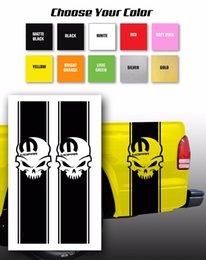 Per adesivi Mopar Skull Dodge Pickup Truck Bed Stripes / Scegli colore