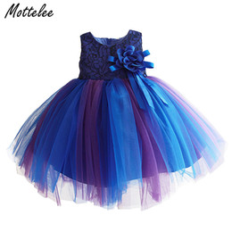 Chinese  MotteLace Infant Party Girls Dress Formal Flower Baby Princess EleDresses Summer Toddler Floral Frock for 9 24 Months manufacturers