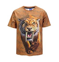 $enCountryForm.capitalKeyWord Canada - 2018 Popular Men's T-shirt Casual t shirt Men  Women Tees Tops Animal Lion Printing high quality tee shirt men