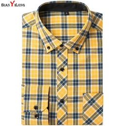 399d08af1 ... Vestido 100% Algodón Sólido Camisa a cuadros Hombres Camisas casuales  de primavera Camisa de vestir de franela Camisa Masculina Camisa Amarillo    rojo