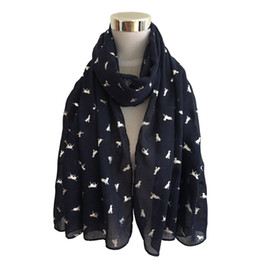 satin silk square hijab 2019 - Winter Women Dog Satin-Silk Square Scarf Shawl female neckerchief muffler girl cachecol Flower NecKerchief Shawls Wrap H