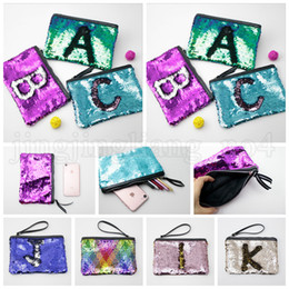 Wholesale Reversible Sequins Clutch Bag Mermaid Makeup Bag Handbag Bling Glitter Evening Party Bag Sparkling Shiny Cosmetic Bags OOA5216
