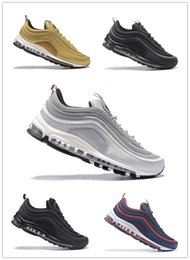 201801 Brand new 97 leisure sports shoes three heavy white bag green silver bullet metal gold Japanese grey men's sports shoes 36-46 shopping online xLv88