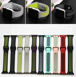 Replacement Bracelet Watch Bands Canada - Replacement Smart Strap For Apple Watch Luxury Soft Silicone Sport Band Hole Loops Strap 38 42mm Bracelet