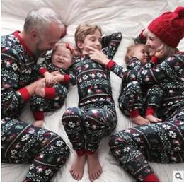 2ce9838676 Xmas Kids Adult Family Matching Christmas Deer Striped Pajamas Sleepwear  Nightwear Pyjamas bedgown sleepcoat nighty 3colors choose 238