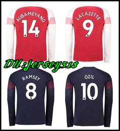 5561aa16dd1 18 19 Long sleeve Arsenal Gunners OZIL ALEXIS AUBAMEYANG soccer jersey 2018  WILSHERE GIROUD LACAZETTE CHAMBERS XHAKA football shirt