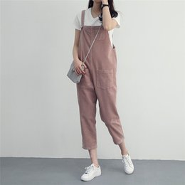 66d1463b799 Women Spring Autumn Comfortable Corduroy Jumpsuit Pure Color Ankle Length  Pants Casual Overall Jumpsuit With Pocket