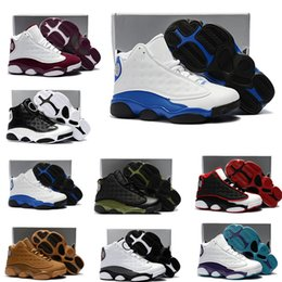Wholesale 13s Children Kids Basketball shoes Wheat Hyper Royal Toddler Sneaker Olive Green Bordeaux Infant trainers With Box