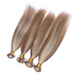 piano hair weave 2019 - Silky Straight #8 613 Highlight Mixed Piano Color Peruvian Virgin Human Hair Weave Bundles 4Pcs Lot Piano Color Human Ha