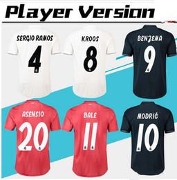 2018 2019 Player Version Soccer Jersey 18 19 Real Madrid Home away 3rd red Soccer  shirt  7 RONALDO BALE KROOS MODRIC ISCO Football uniform cebe57dd5