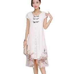 ddff99826 2018 verão guindaste estampado vietnamita aodai qipao roupas tradicionais  longos chineses cheongsam vestido manto chinoise cheongsam moderno