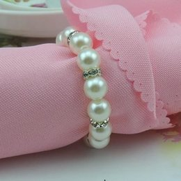 Chinese  New hot sale White Pearl napkin circle in Europe and America napkin ring Scarf Napkin ring T4H0274 manufacturers