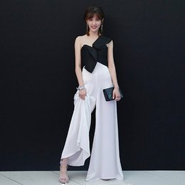 High Quality Jumpsuits Australia - Rompers High Quality Runway 2018 Spring Summer New Fashion Women Party Elegant Vintage Sexy Loose Trousers Sleeveless Jumpsuits