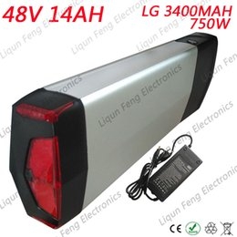 used electric scooter 2019 - Rear Rack 750W 48V 14AH Li-ion Battery for Electric Bike 48V Ebike E-scooter Lithium Battery use LG cell 25A BMS 54.6V2A