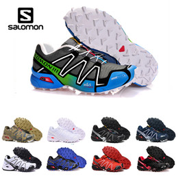 Chinese  New Original Salomon Running shoes Speed cross 3 CS III Camo Green Black Men Women Outdoor Crosspeed 3 Sports sneakers shoes size 40-46 manufacturers