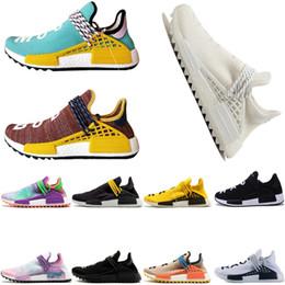 2deefee5970 adidas Originals Human Race Hu NMD Trail N MDs Race humaine Pharrell  Williams X hommes chaussures de course discount sneaker homme noir crazy  Outdoor ...
