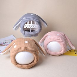 Beanies For Kids NZ - 3-20 months 2019 New Kids Baby Winter Warm Knitted Rabbit Hat Children Cap for Boys Girls Skullies & Beanies AD0711