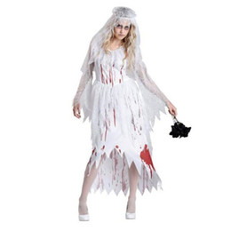 f7c5a085f4b8 Female Vampire Halloween Costumes UK - New halloween devil Cosplay Party  devil Corpse Bride Costume Female