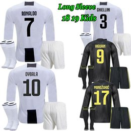 RONALDO 18 19 Long sleeve kids kits DYBALA POGBA HIGUAIN home soccer Jersey  adult JUVENTUS MANDZUKIC CR7 2018 2019 Away child Football Shirt cf552cadf