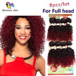 full head brazilian human hair UK - 2018 New Arrival 8pcs per pack for full head hair curly bundles human Brazilian natural weave extension Kinky curly for black women
