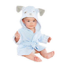 Bath & Shower Product Honey Baby Children Boy Girl Sleeping Towel Bath Cotton Hooded Bathrobes Cartoon Print Baby Towel Wash Towels
