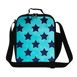lunch bags for kids 2019 - 3D Print Striped Kids Lunch Bags Children Lunch Box For Kindergarten Stars Shoulder Thermal Picnic Bags Christmas Gifts