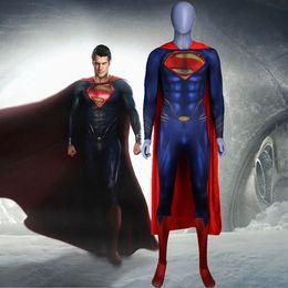 04b4623f1 Man of Steel 2 Batman Costume 3D Original Movie Superhero Costume SuperMan  Zentai Suit